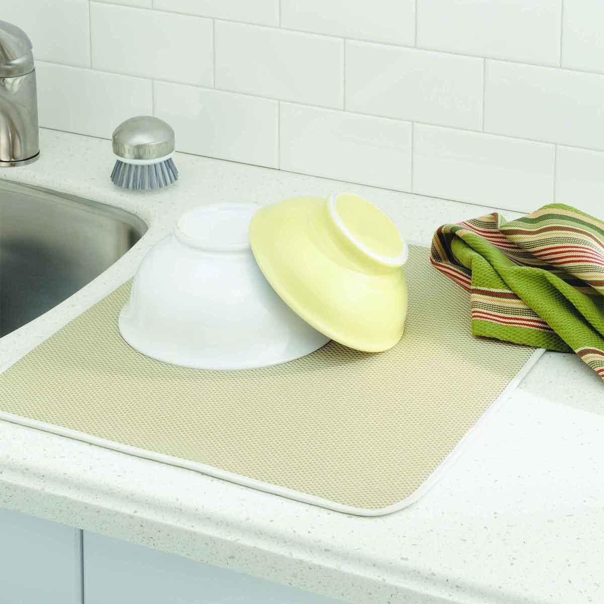 Tapis gouttoir en microfibres pour la cuisine for Cuisine 0 dechet