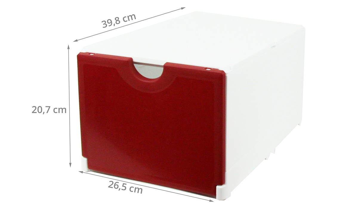 Bo te rangement chaussures rouge empilable - Boite de rangement chaussures transparentes ...