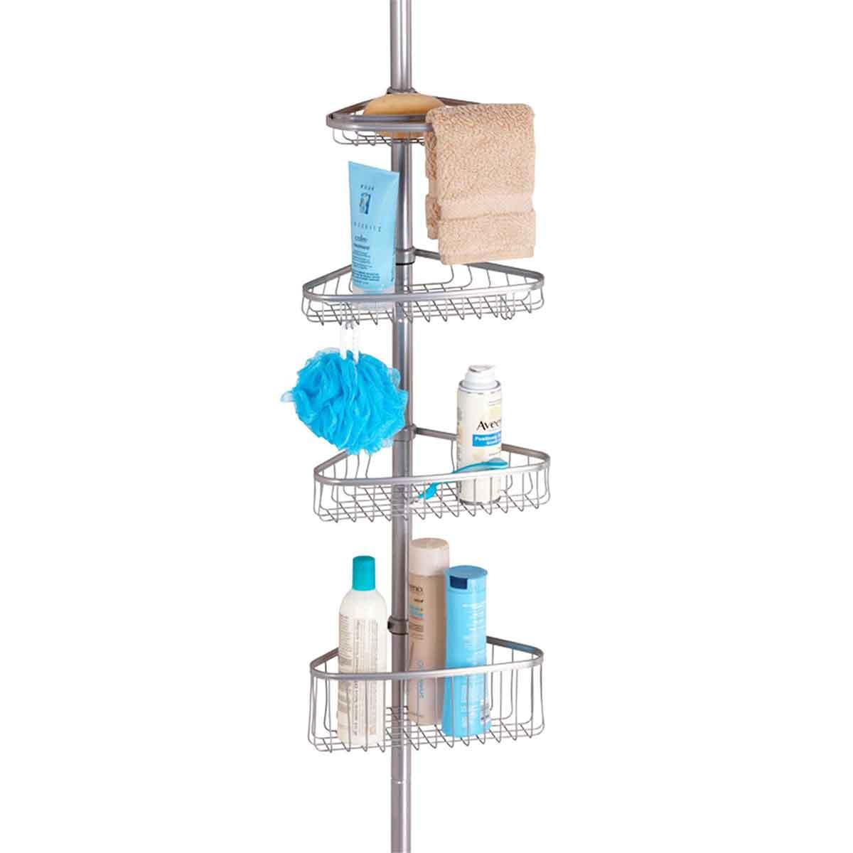 Etag re de douche t lescopique rangement salle de bain - Rangement gel douche ...