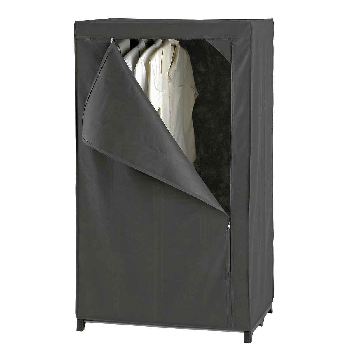 armoire penderie en tissu gris dressing rangement v tements. Black Bedroom Furniture Sets. Home Design Ideas