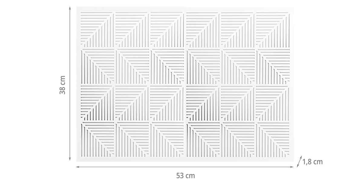 Dimensions du panneau d'affichage