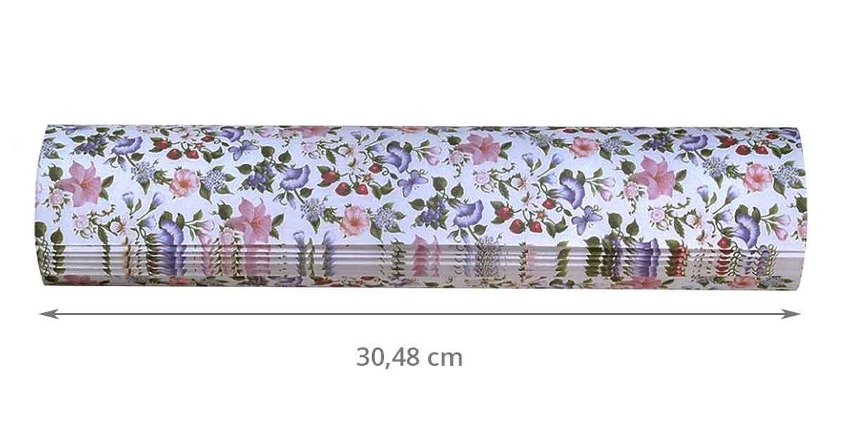 Dimensions des 8 feuilles parfumées