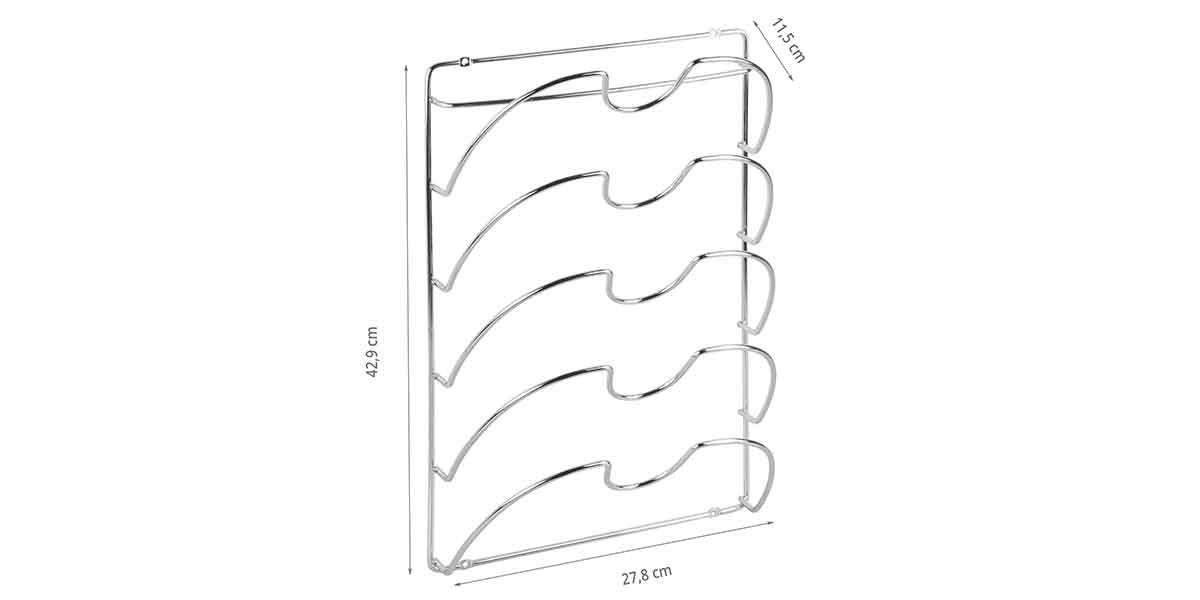 Dimensions du support mural pour couvercles