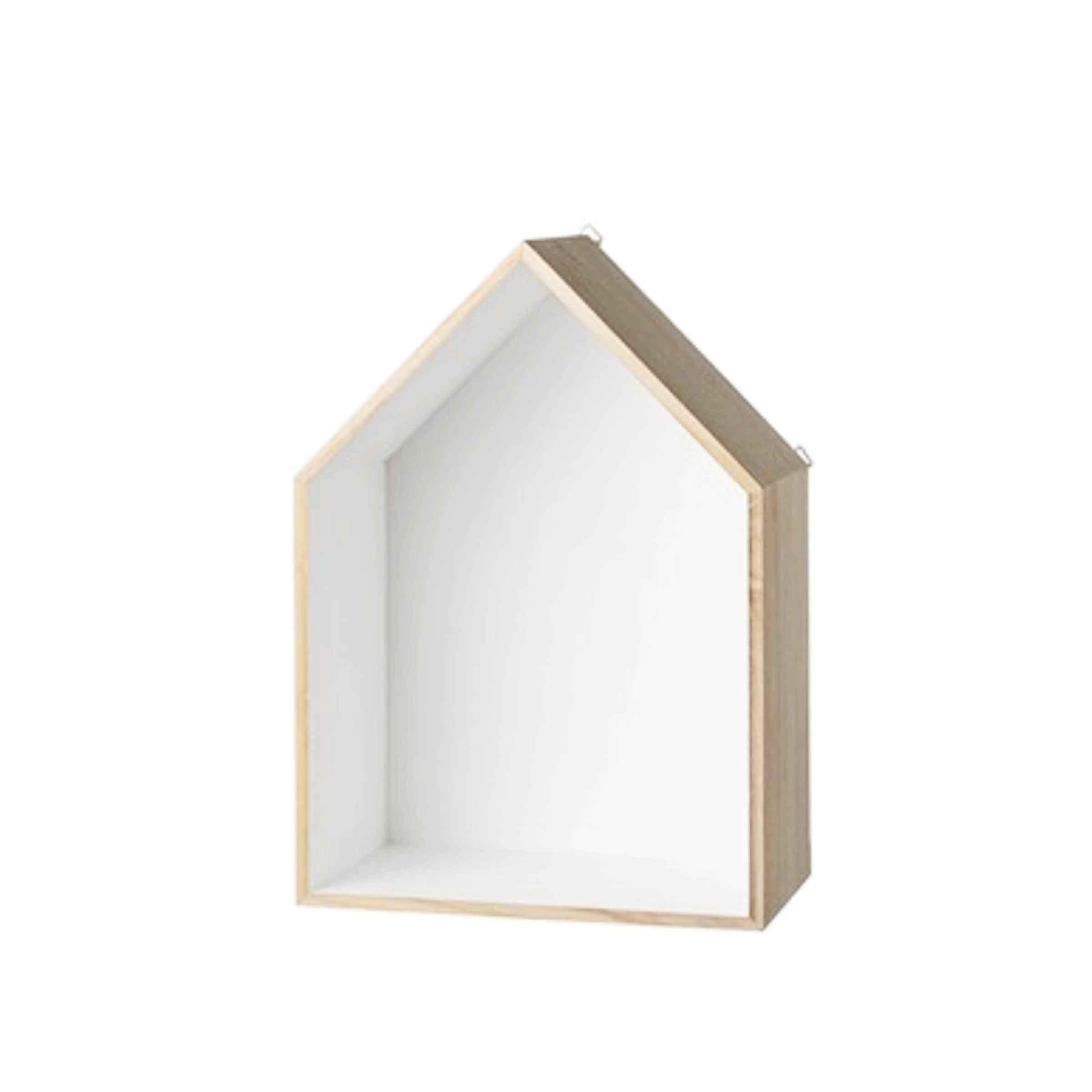 Etag re en bois en forme de maison for Astuce pour decorer sa maison