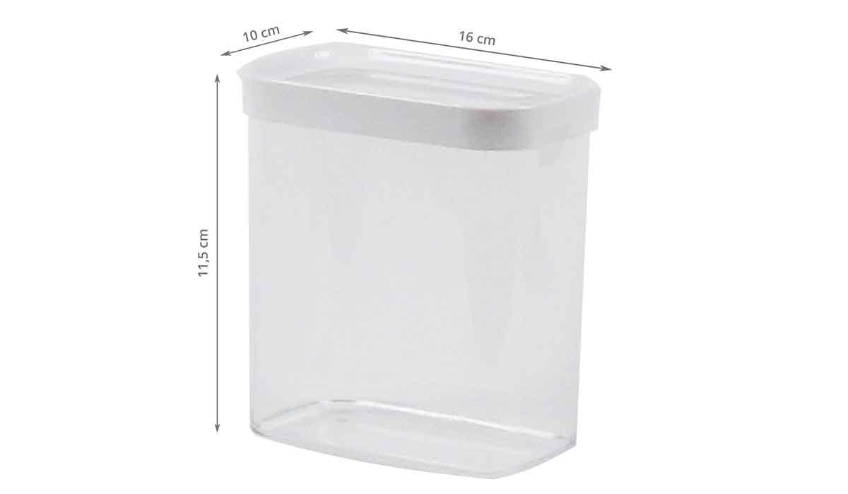 bo te en plastique pour aliments secs 1 litre. Black Bedroom Furniture Sets. Home Design Ideas