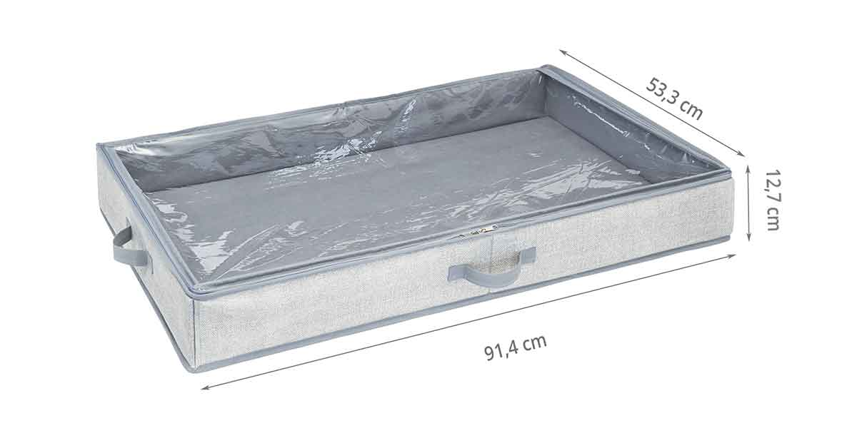 Dimensions de la housse sous le lit à 2 compartiments