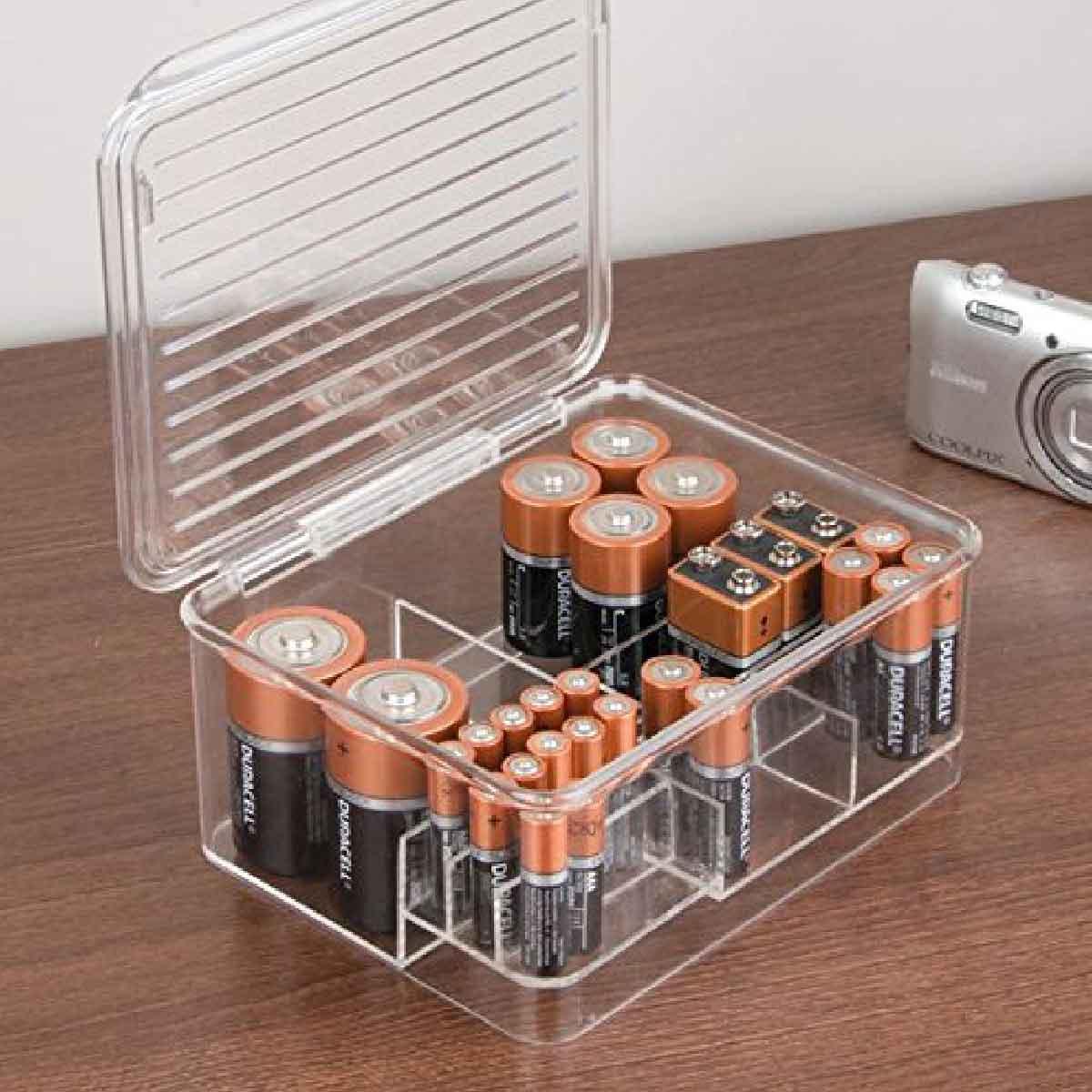 Boîte de rangement pour piles - A compartiments
