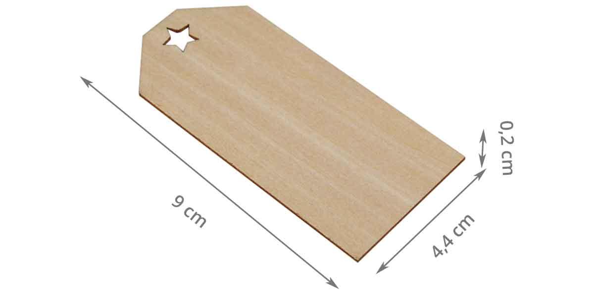 Etiquette en bois