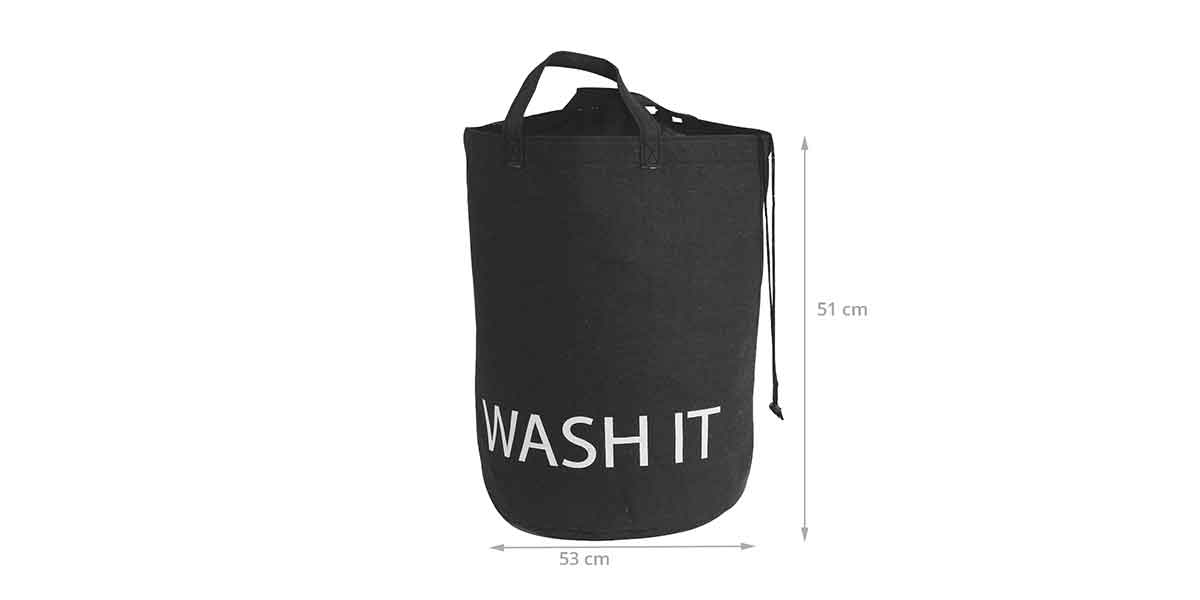 Dimensions du sac à linge en tissu