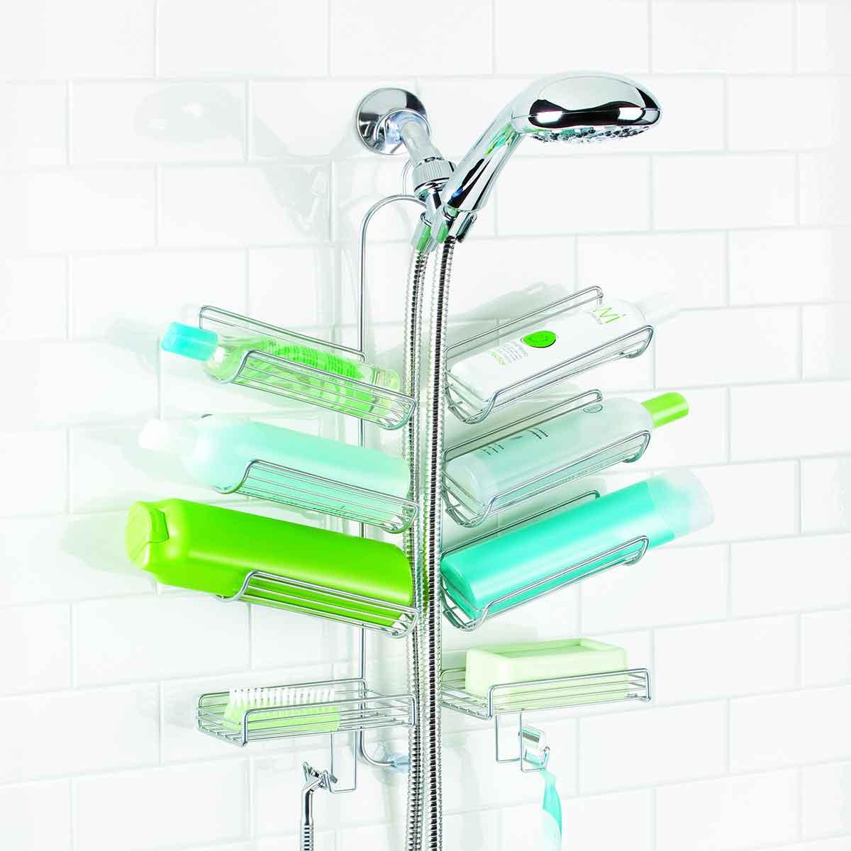 Etag re de douche pratique rangement bain - Rangement gel douche ...