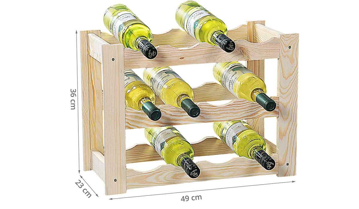 range bouteilles en pin fsc pour 12 bouteilles. Black Bedroom Furniture Sets. Home Design Ideas