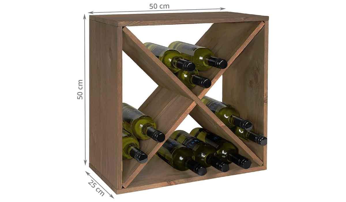 Comment Ranger Son Armoire À Vin casier à bouteilles en bois avec 4 compartiments en croisillon