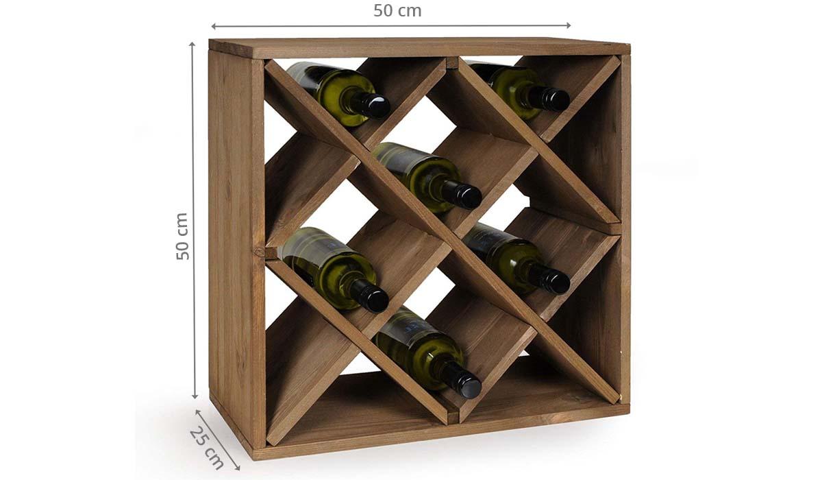 Fabriquer Casier À Bouteilles En Bois casier à croisillons pour 20 bouteilles