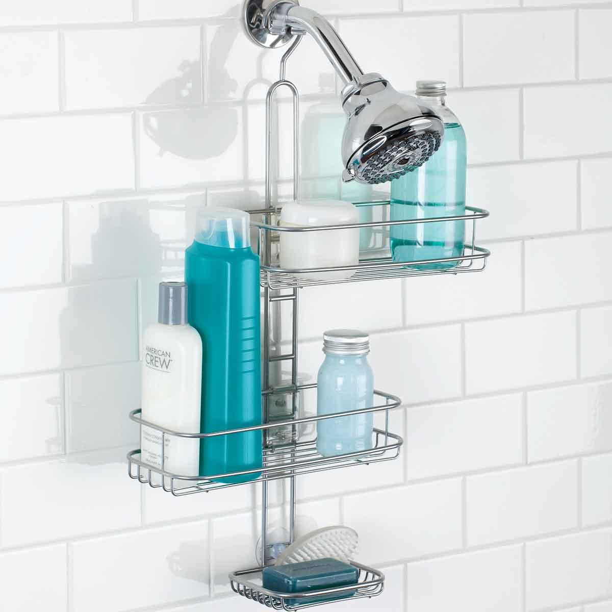 Etagère de douche ajustable en métal à suspendre