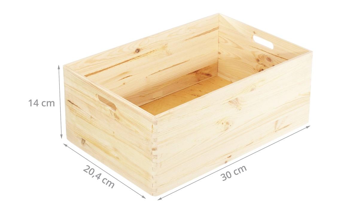 Caisse En Bois Pour Livre caisse de rangement en bois. taille s