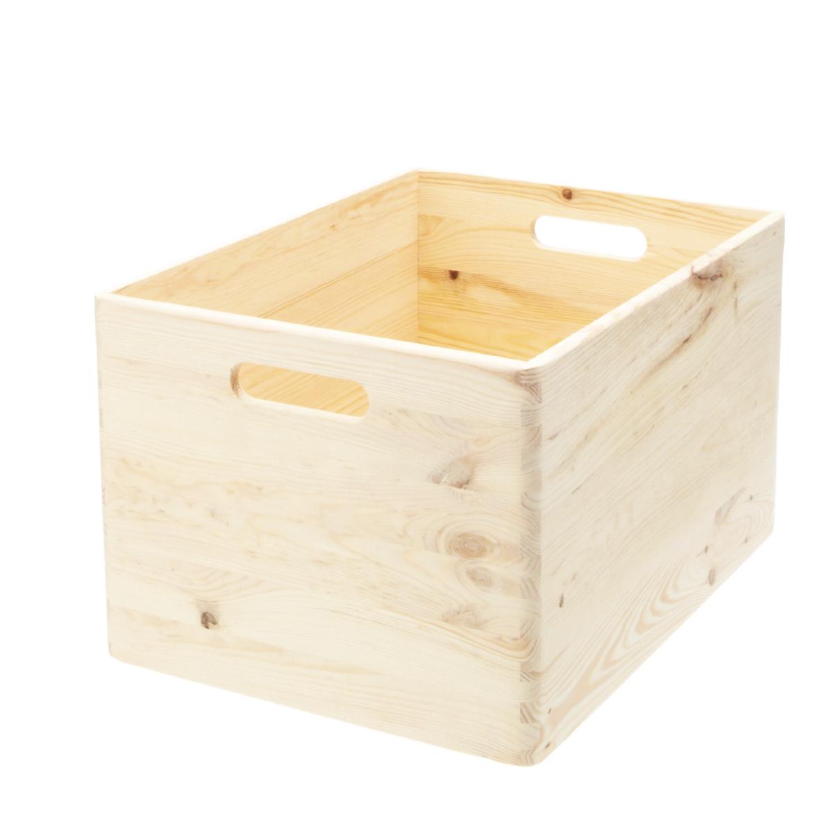 Caisse de rangement en bois empilable -pin FSC