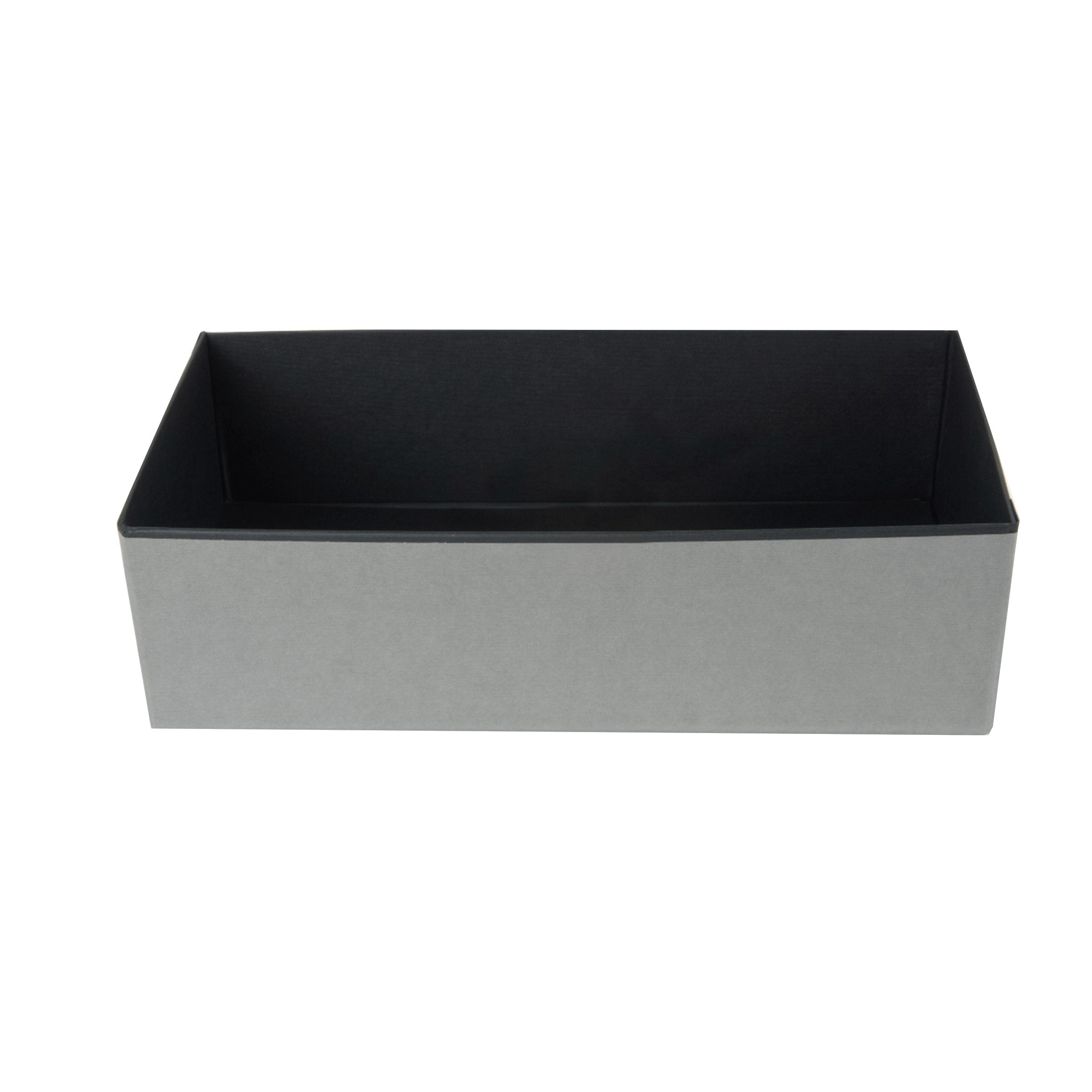 Organisateur de tiroir en carton noir et gris
