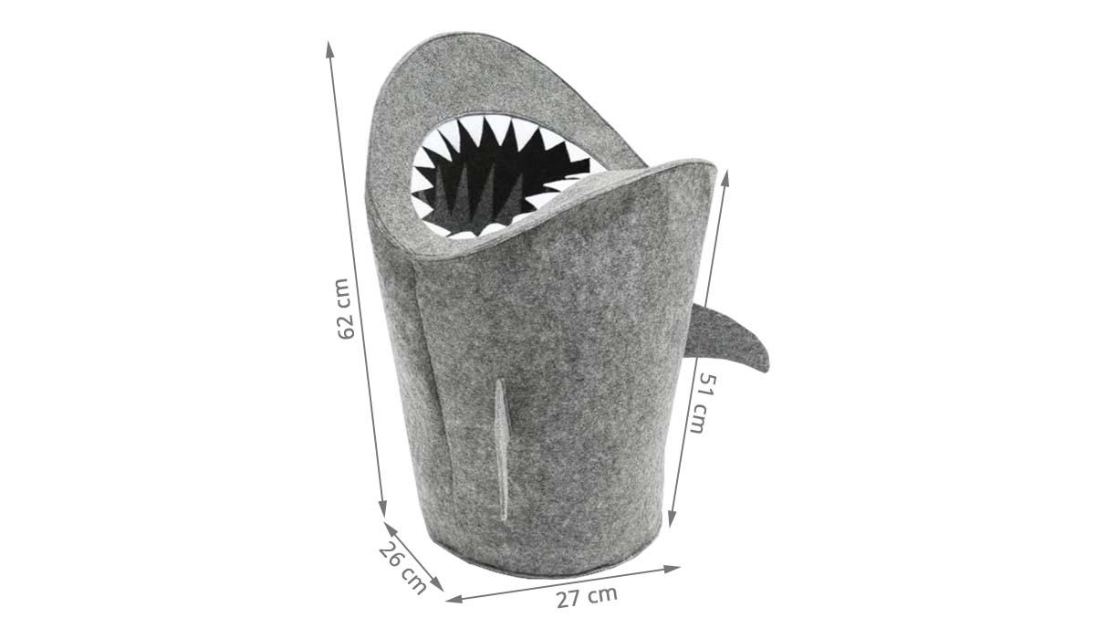 Le Bon Coin Coffre A Jouet panier à jouets requin en feutre