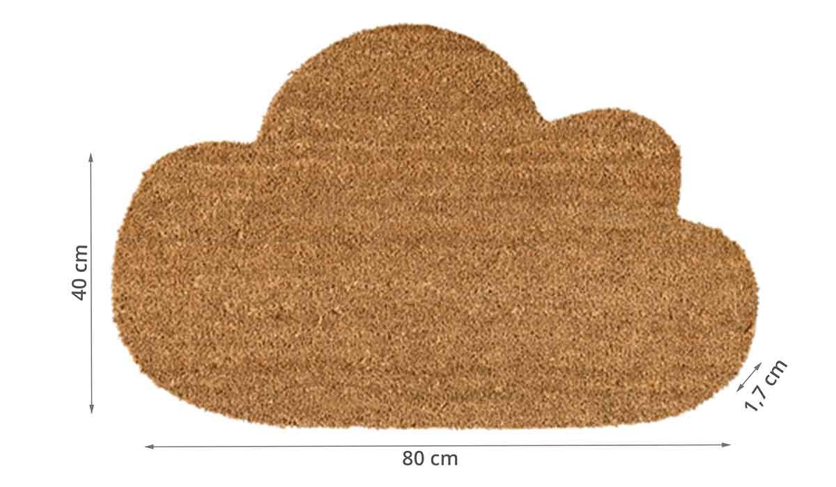Dimensions du paillasson en coco en forme de nuage