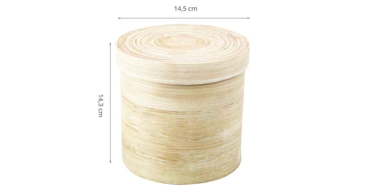Dimensions de la boîte à coton tiges et coton