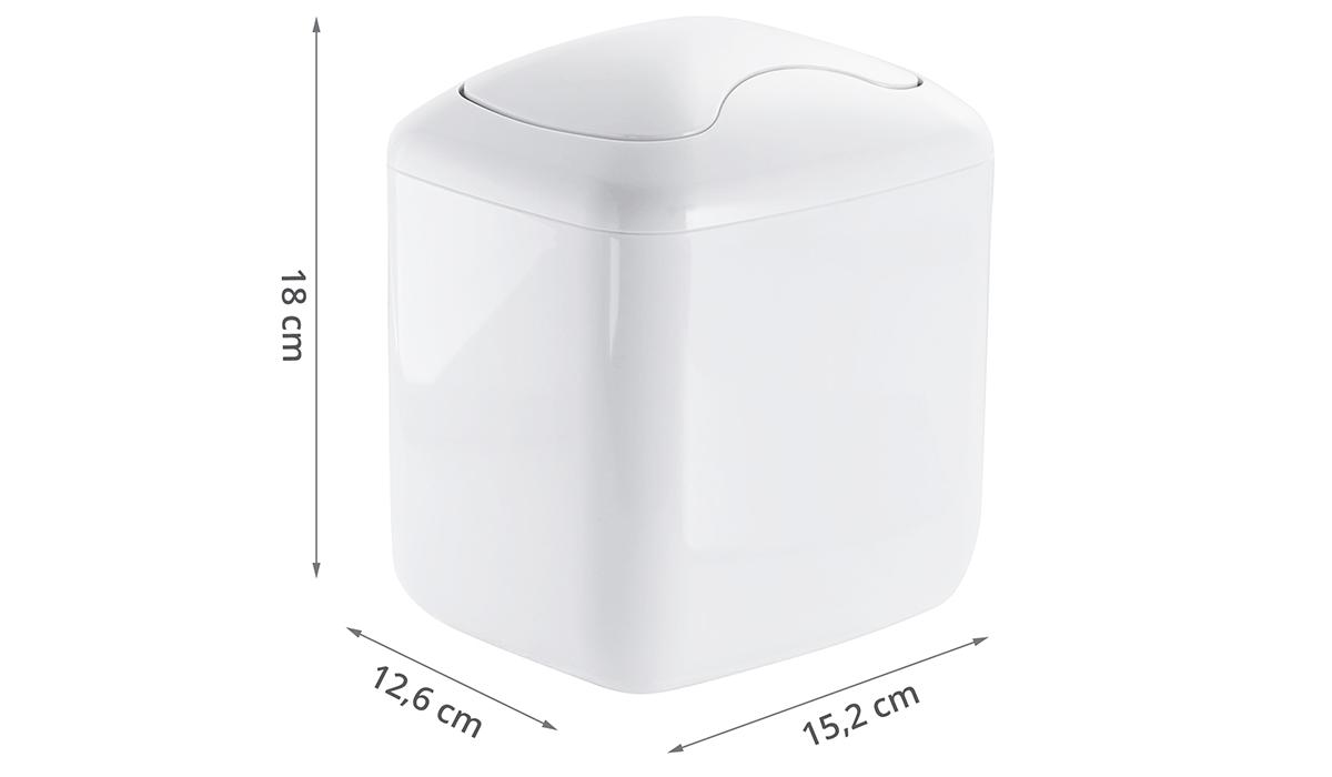 Mini poubelle 2 7 litres salle de bain - Mini poubelle de salle de bain ...