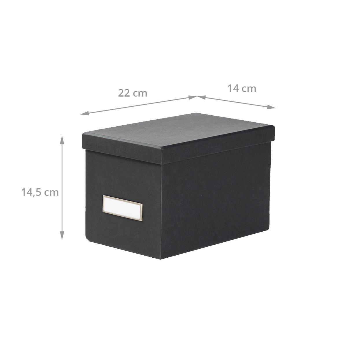 dimensions boîte en carton gris anthracite pour CD avec couvercle