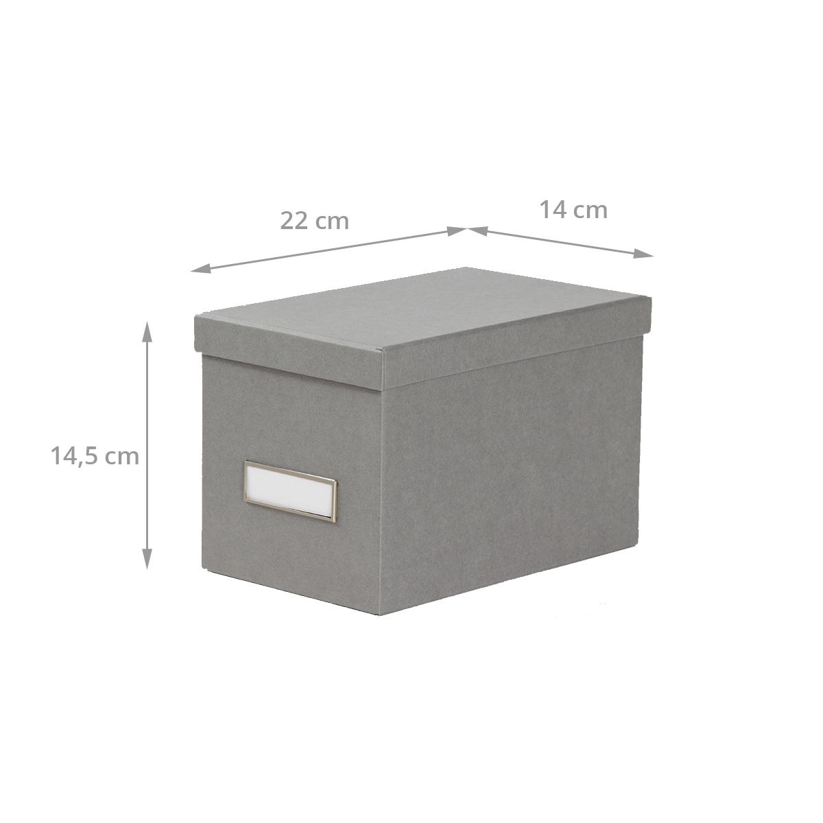 dimensions boîte en carton gris flanelle pour CD avec couvercle