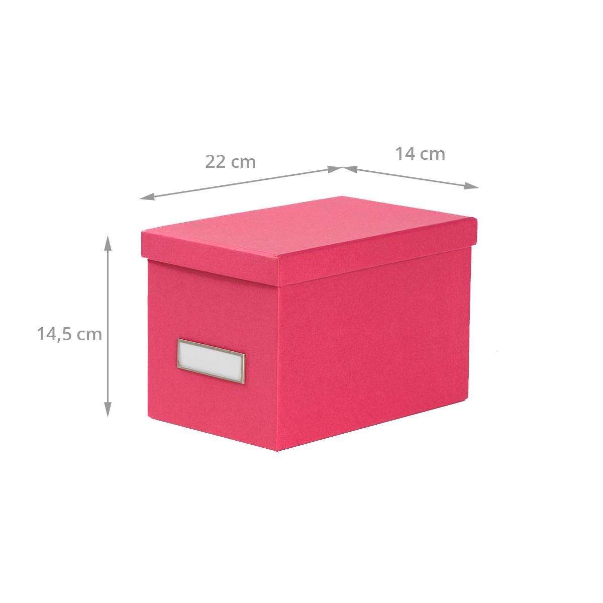 dimensions boîte en carton fuchsia pour CD avec couvercle
