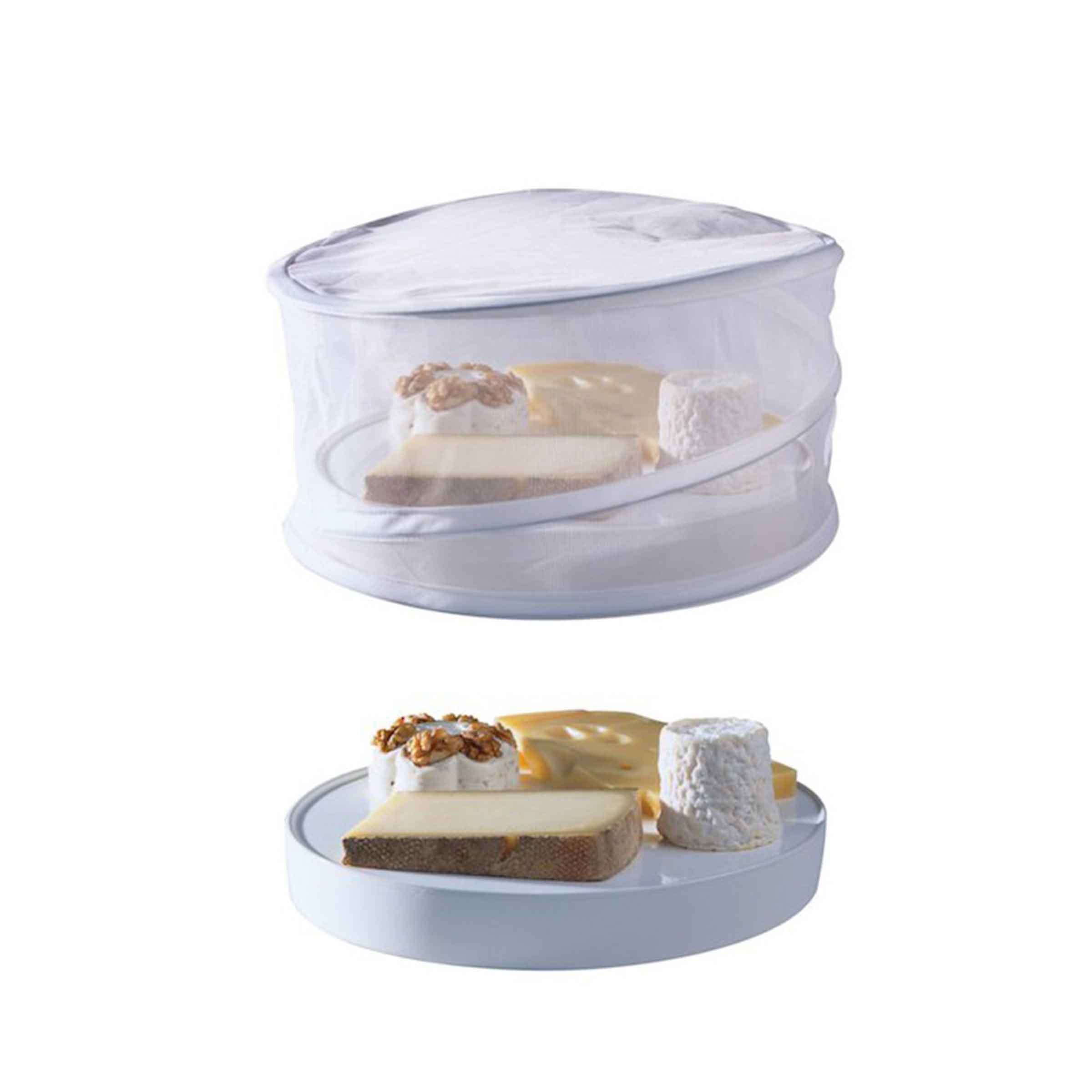 Protection pour fromage en tissu blanc