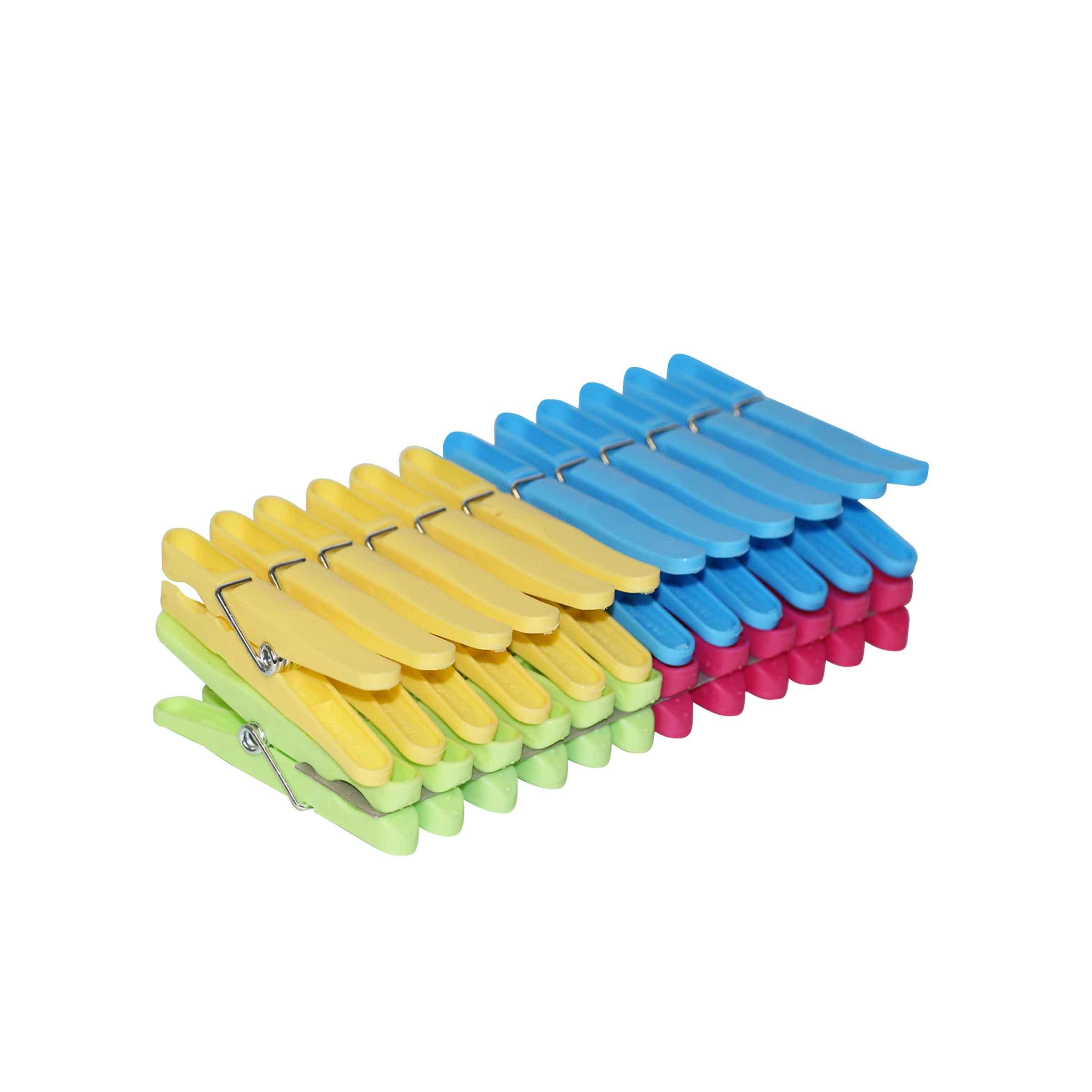 pinces à linge en plastique 4 couleurs
