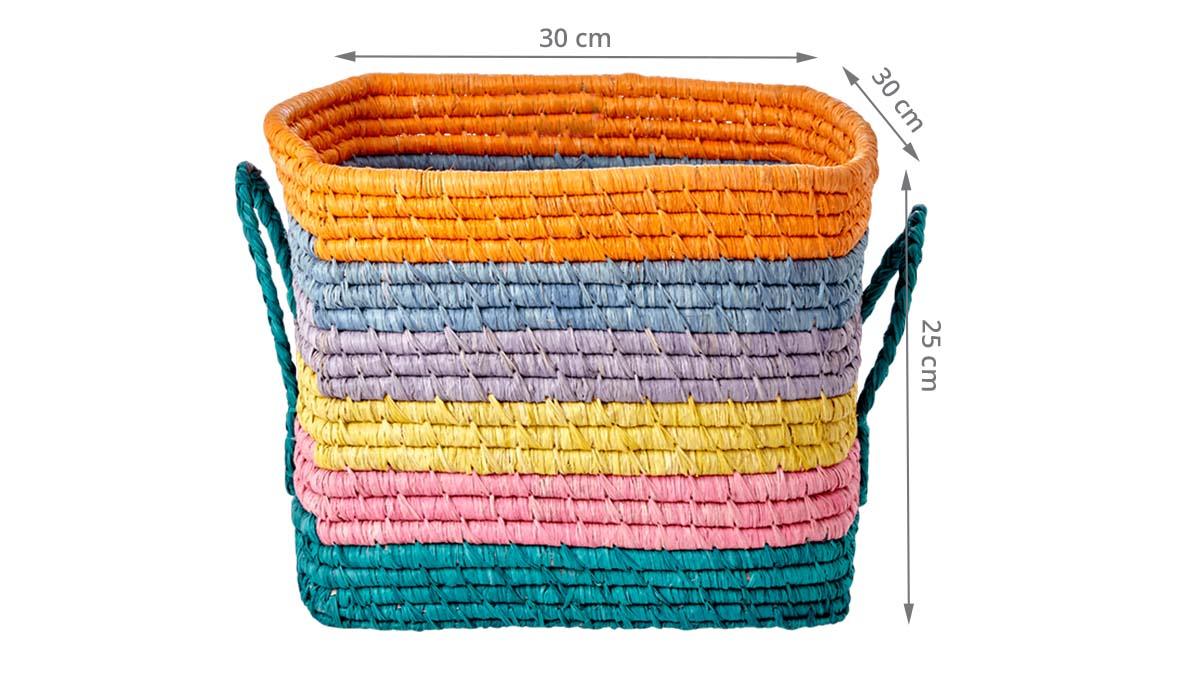 Panier De Rangement Cube Multicolore 30x30x25