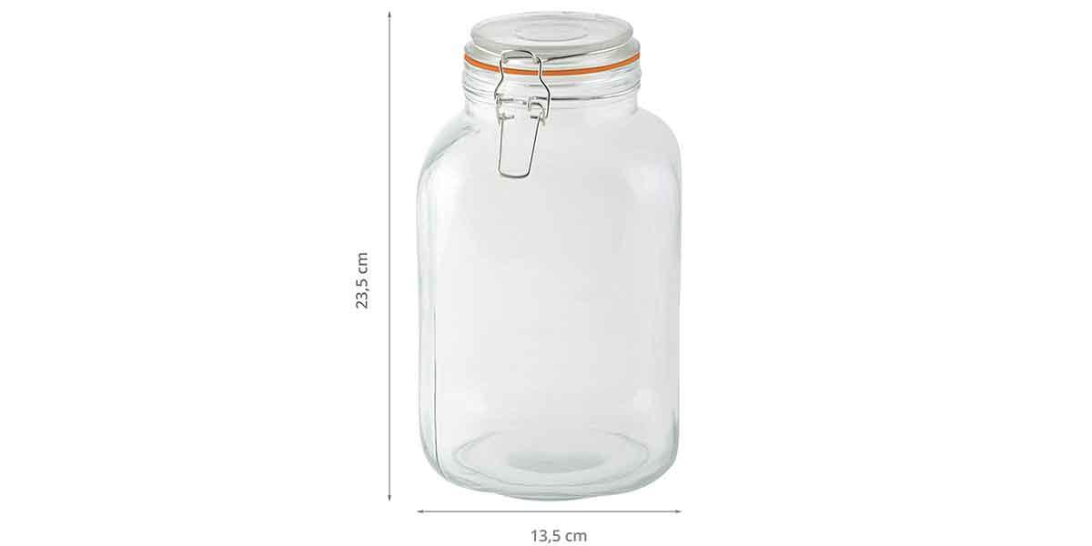 Dimensions du bocal en verre 3L