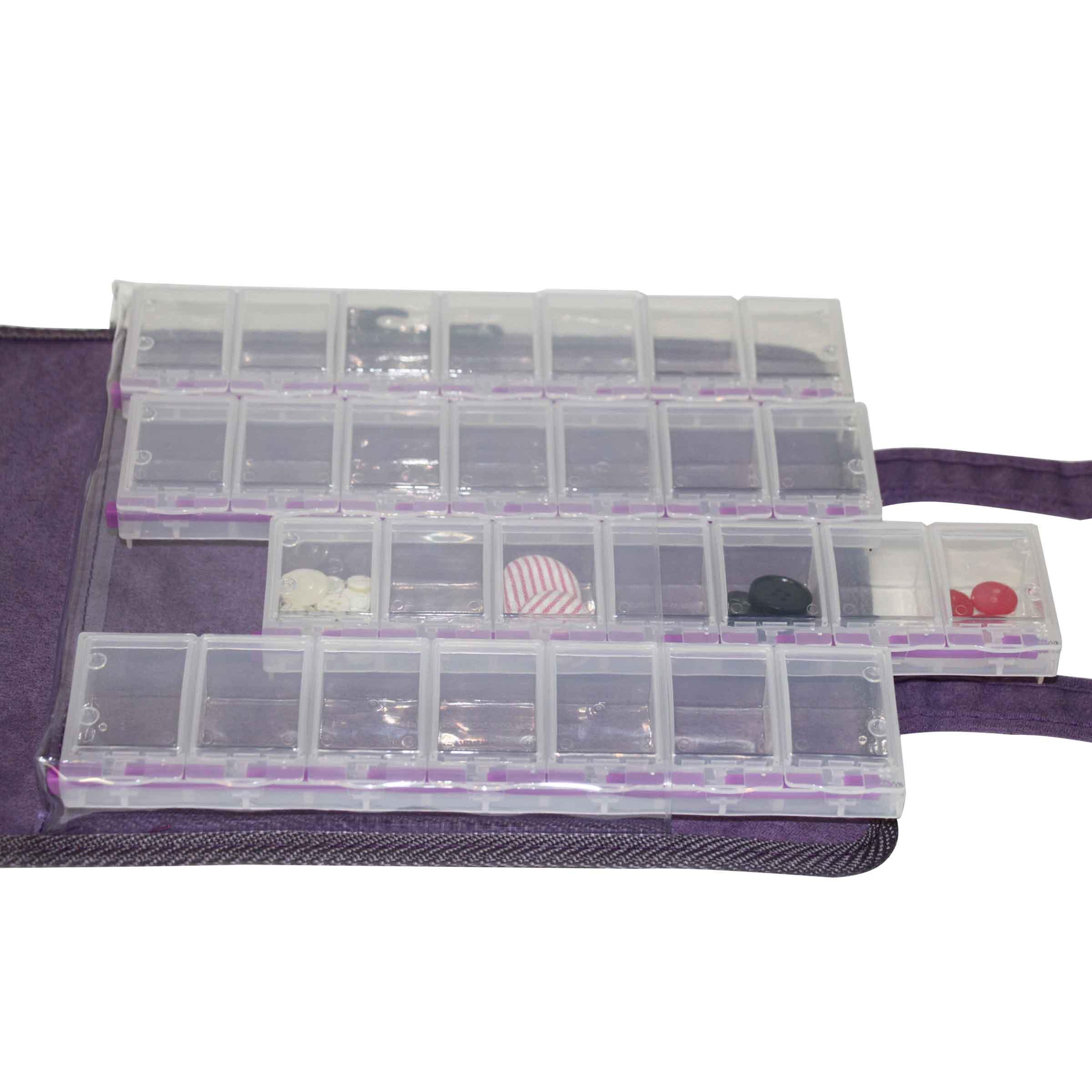 Rangement en plastique pour perles ou boutons 56 compartiments
