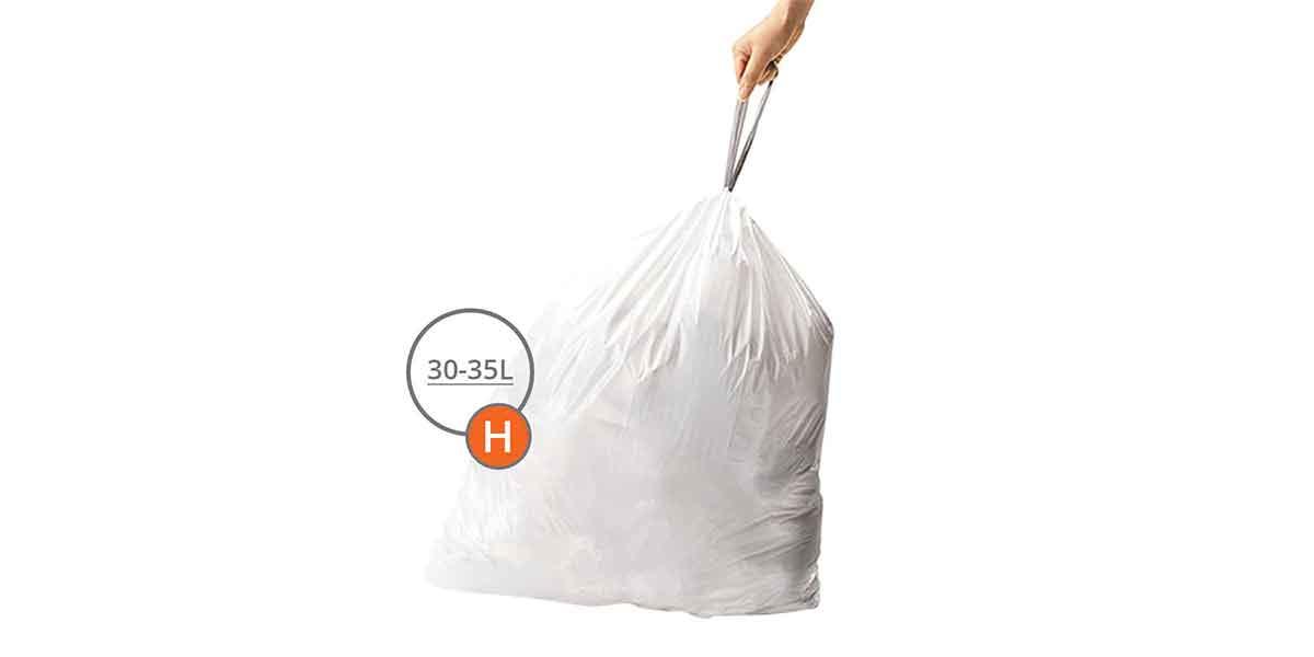 Taille des sacs poubelles 30L à 35L