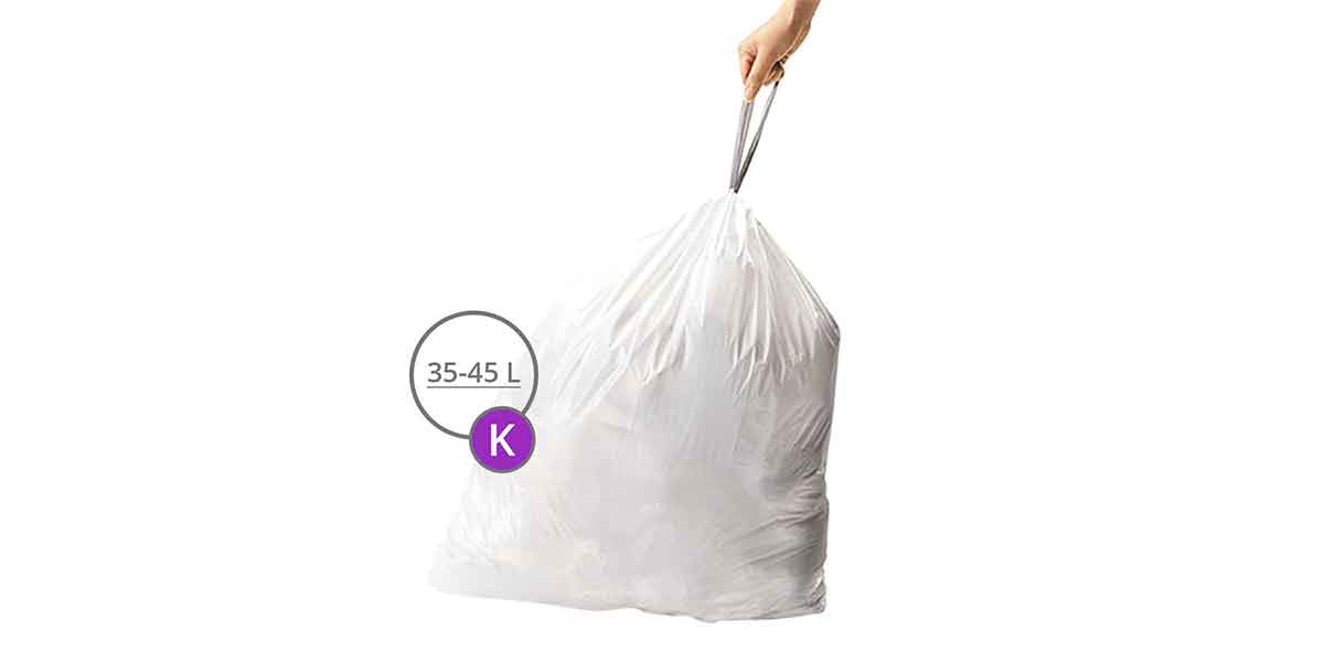 Taille des sacs poubelles 35L à 45L