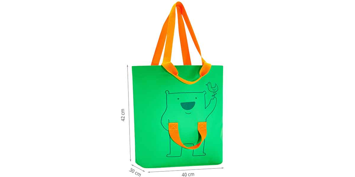 Dimensions family bag vert et orange