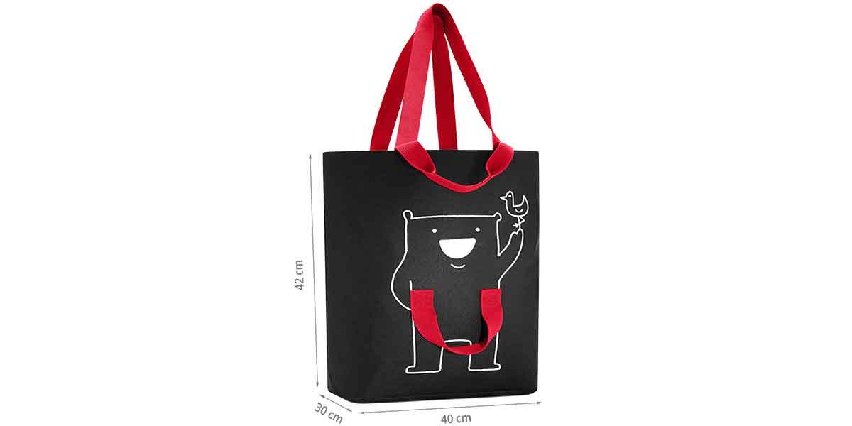 Dimensions family bag noir et rouge
