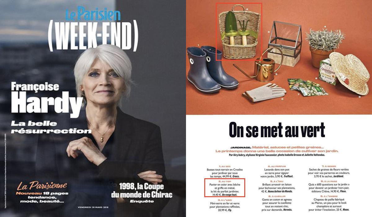 vu dans le parisien week end - Osier Vivant Jardiland