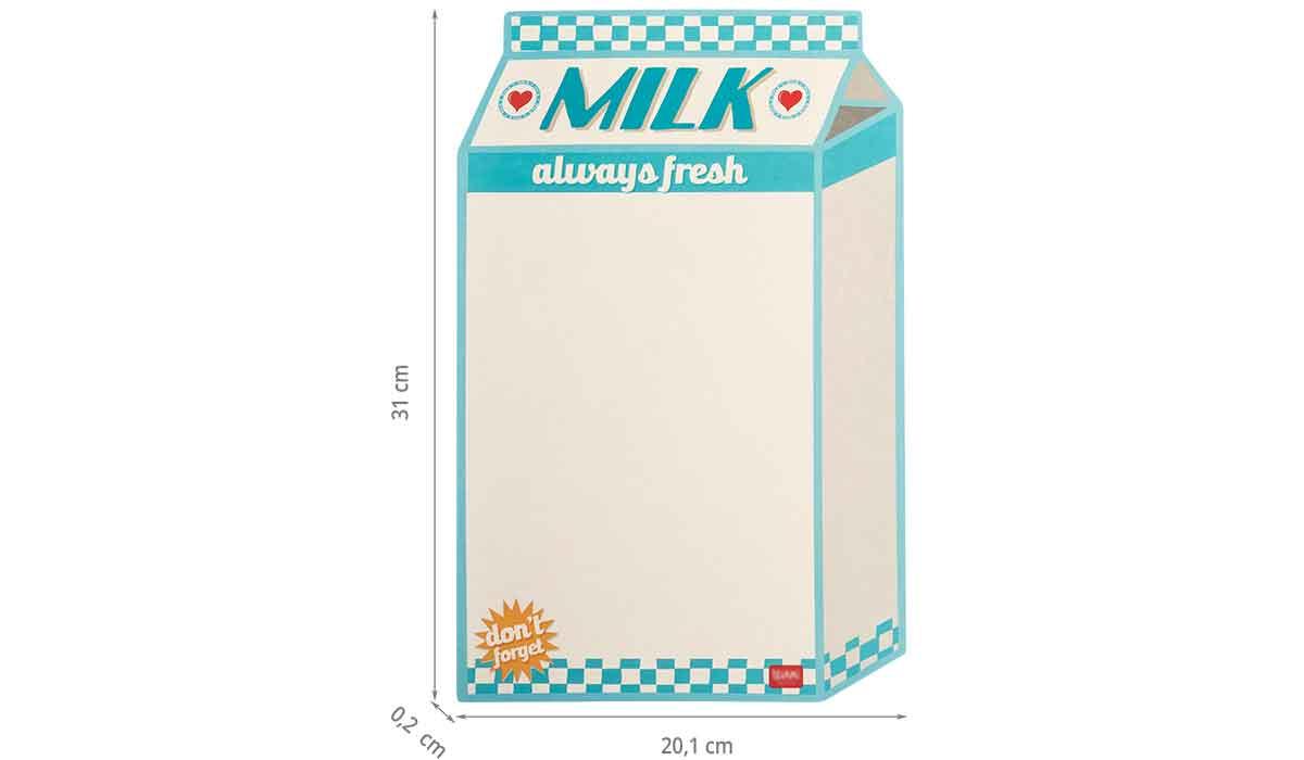 Dimensions du panneau aimanté milk