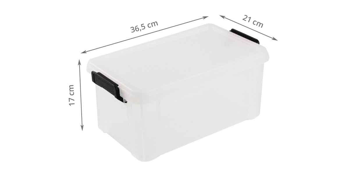 Boîte rectangulaire en plastique