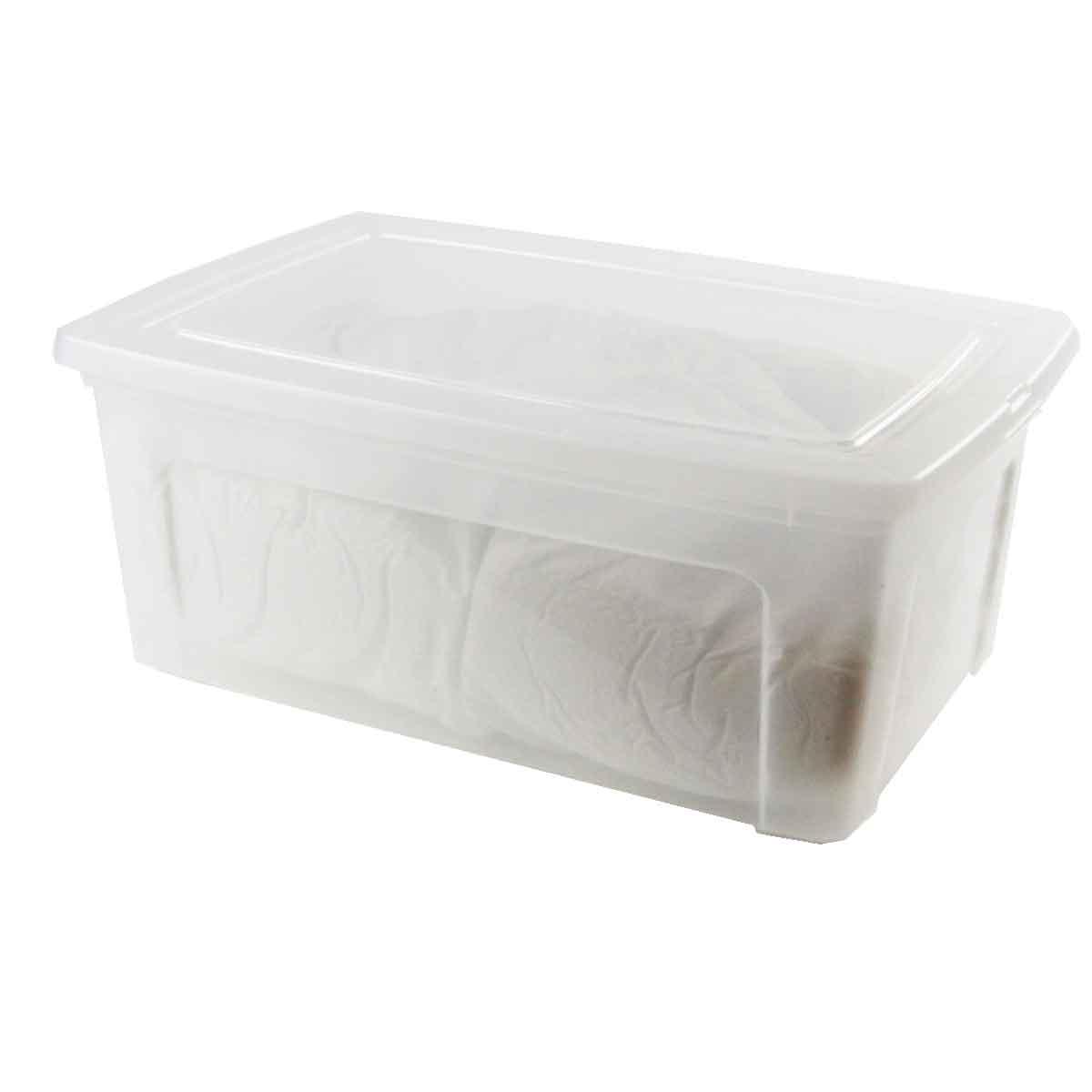 Conseils et utilisation de la boîte en plastique avec couvercle