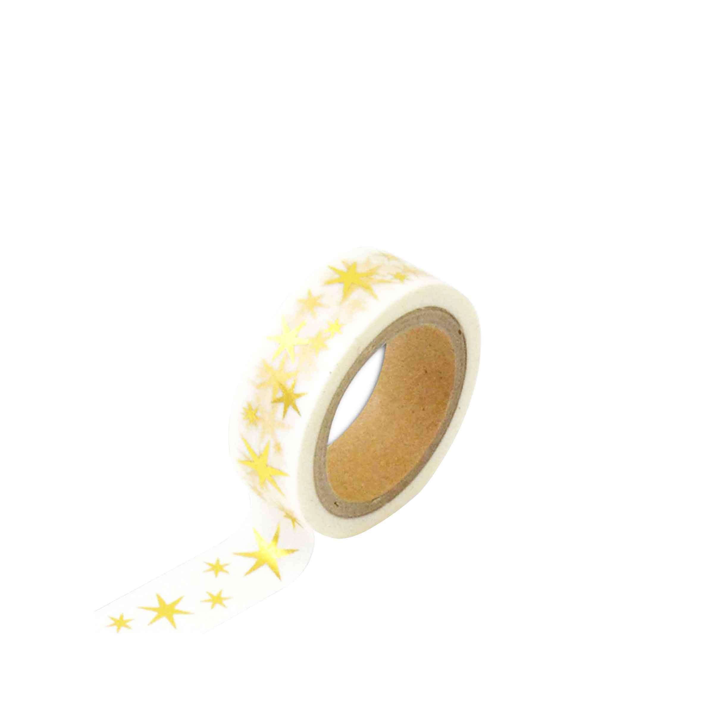 ruban décoratif avec des étoiles dorées