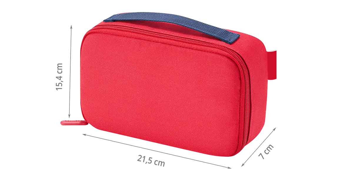 Dimensions du sac isotherme rouge
