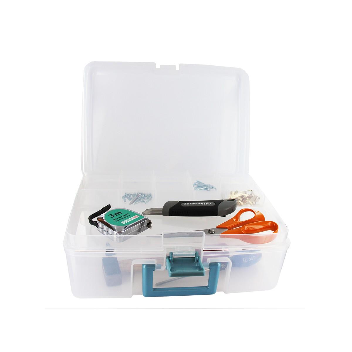 Mallette plastique compartiments rangement for Rangement couture plastique