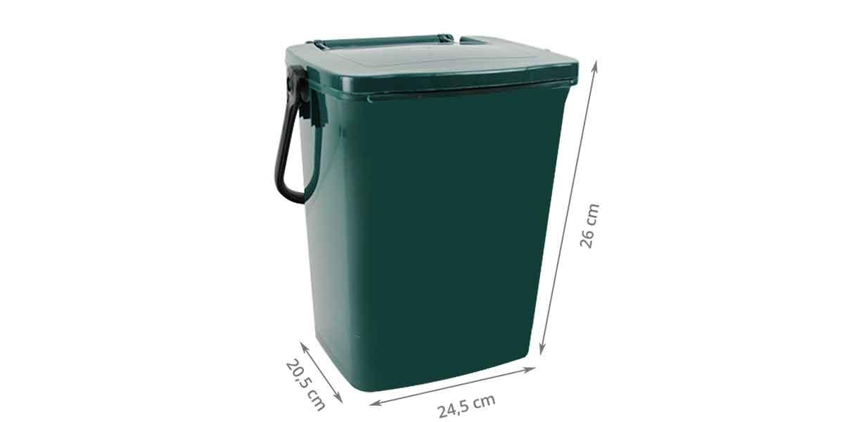 Dimensions du bac à compost vert