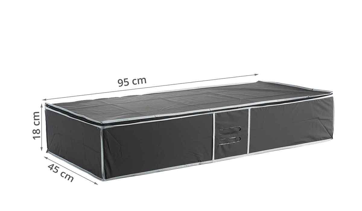 housse rangement sous lit peva noir. Black Bedroom Furniture Sets. Home Design Ideas