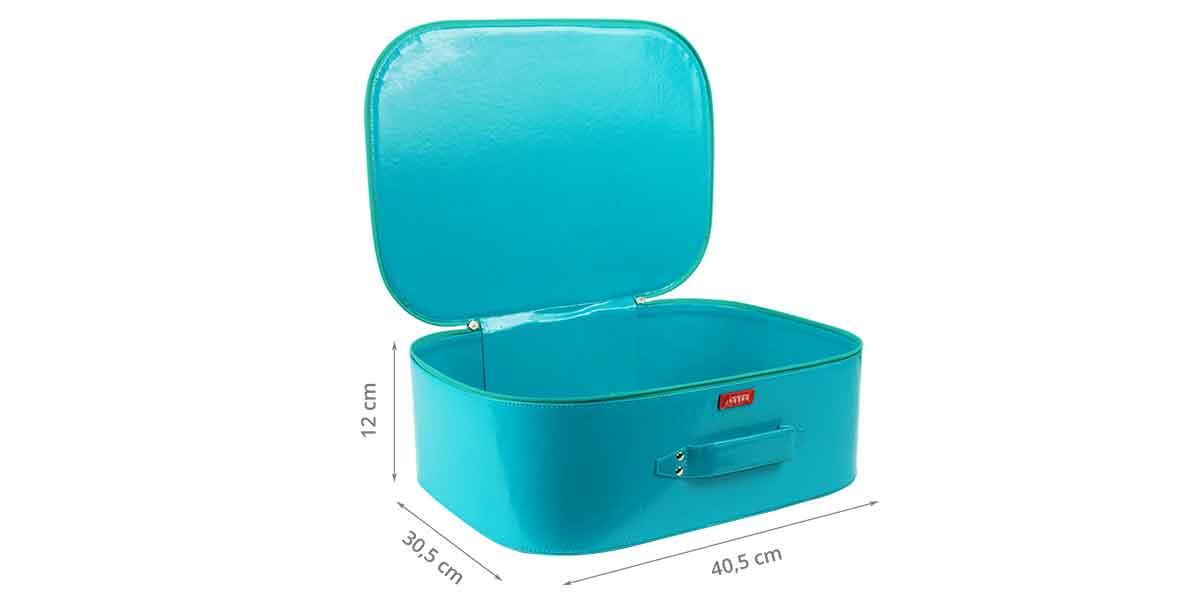 Dimensions de la valise pour enfant bleue