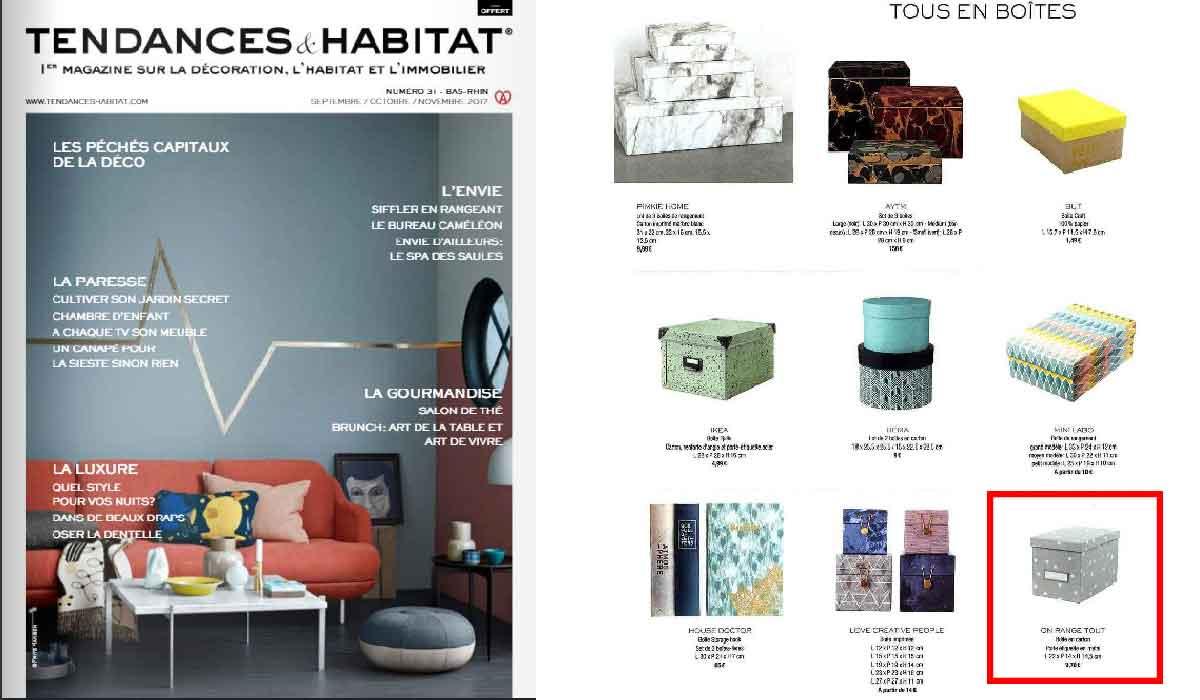 bo te de rangement cd en carton gris clair. Black Bedroom Furniture Sets. Home Design Ideas