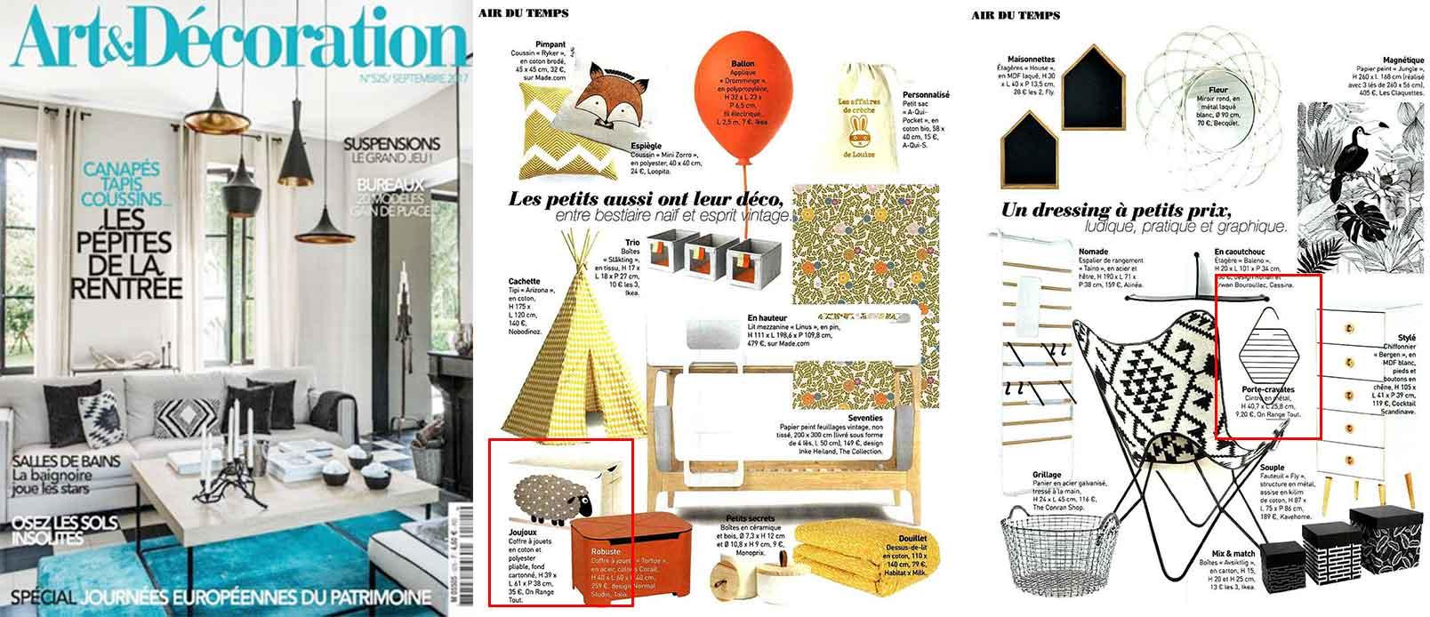 Une du magazine Art et décoration septembre
