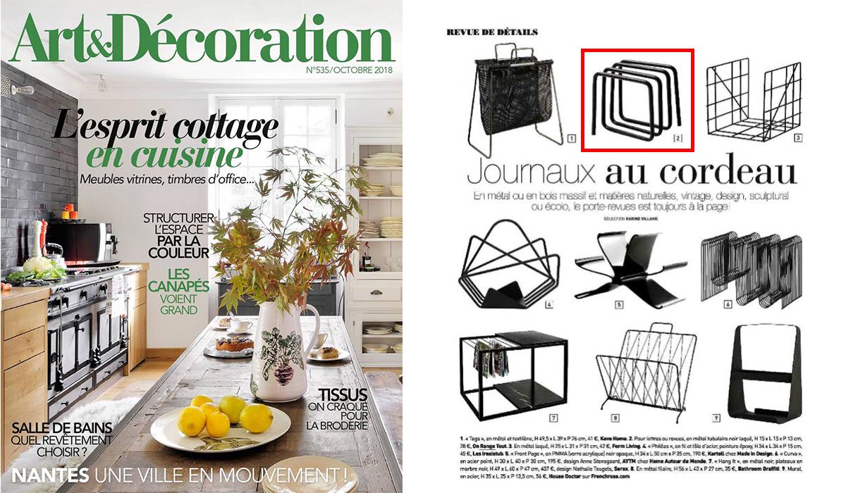 Magazine Art Et Décoration on parle de nous - on range tout